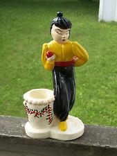 Ant Asian Chinese Woman Lady Figurine Cigarette Planter Apple Plum Blossom Vase