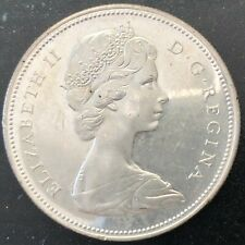 1966 Canada Silver 1 Dollar, Large Beads, in very nice condition