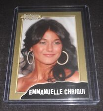 PopCardz Emmanuelle Chriqui Gold Trading Card (The Mentalist,Cleaners, Shut Eye)