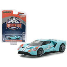 Greenlight 2017 Ford GT 40 Heritage Racing Tribute #1 Light Blue 1:64 13200-B