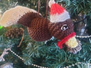 Christmas Tree Decoration bauble Santa TURKEY hand knitted ornament