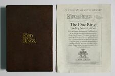 The Lord of the Rings The One Ring Sterling Silver Edition The Noble Collection