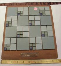 Vintage Ceramic Tile *American Olean* 1950's  Sample colors on masonite board 12