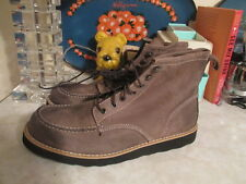 Men's American Eagle Outfitters  Leather Moc Stitched  Toe Boots - 12 NWOB