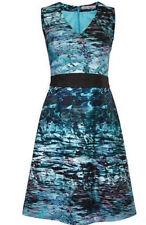 Damenkleid Ashley Brooke Kleid Druckkleid aqua Gr.46 Neu