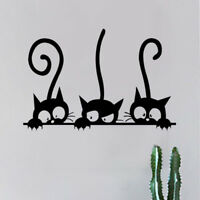 Cartoon Three Cat Pattern Wall Sticker Home Decor Living Room Bedroom Decoration