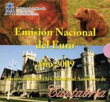 Spanien KMS Kursmünzensatz 2009 Regionen Cantabria