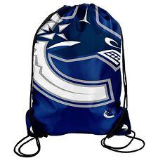 Vancouver Canucks Back Pack/Sack Drawstring Bag/Tote NHL New backpack BIG LOGO