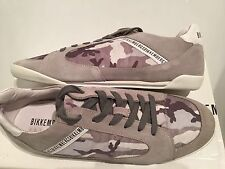 Bikkembergs Men's Chillout Fab Suede Camouflage Grey Trainers Size 46