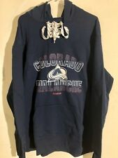 REEBOK Pullover Hoodie NHL Jersey Colorado Avalanche Team Navy sz M