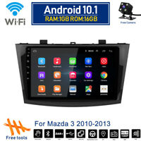 Android 10.1 Car Wifi DVD Radio Stereo GPS Navi BT Player For Mazda 3 2010-2013