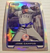 VICENTE JOSE CAMPOS signed #/500 YANKEES 2012 Bowman Chrome baseball card AUTO