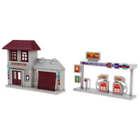 1/87 (HO) Scale Building Gauge House Gas Station Model Train Layout Part Plastic