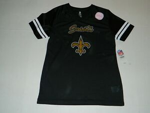 NEW ORLEANS SAINTS GIRLS PULL OVER JERSEY SIZE:  L (14)