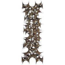 Brutalist wall sculpture by Mark Weinstein for Marc Creates Bertoia Eames