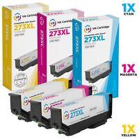 LD 3pk Reman Cartridge for Epson 273 XL 273XL T273XL XP-800 XP-810 XP-820 Cyan