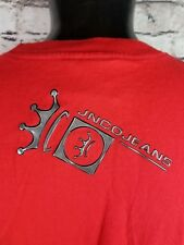 Vtg 90s Jnco Jeans Usa Red Silver Crown T-Shirt Skate Rave Club Large