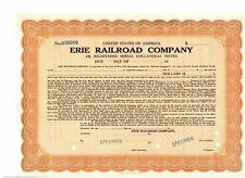 Specimen: Erie Railroad Company Bond