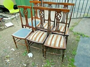 6 dining chairs  Chairs with covered seats     Buyer to collect