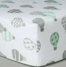 Cloud Island Hot Air Balloons Fitted Crib Sheet New Baby Nursery Bedding