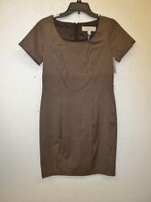 NWT Merona Womens Brown Dress-8-Dressy-Career-Short Sleeves