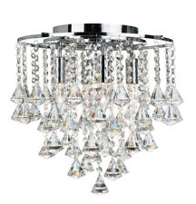 Searchlight 3494-4CC Dorchester Chrome 4 Light Chandelier Clear Crystal Buttons