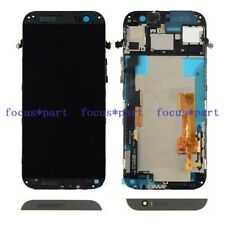 New HTC One M8s Black LCD Display + Touch Screen Digitizer Assembly Frame