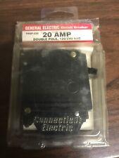 GE- Circuit Breaker 20 AMP Double Pole, 120/240 VAC (THQP-220)