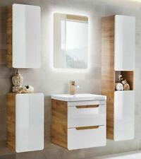 Badmöbel Set ARUBA-WEISS/EICHE 60 Badmöbel Set LED montiert EXPRESSVERSAND