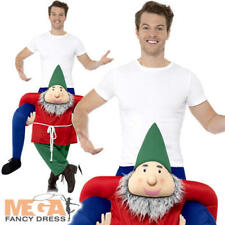 Piggyback Gnome Mens Ladies Fancy Dress Fairytale Ride On Novelty Adults Costume
