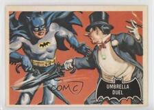 1989 Topps Batman Deluxe Reissue Edition Black Bat #23 Umbrella Duel Card 2u3