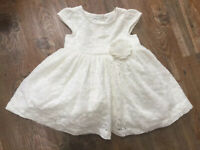 BNWT Marks and Spencer Cream Ivory Lace Baby Dress Christening Occassion 3-6 Mth