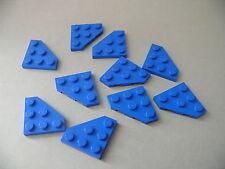 Lego 10 ailerons bleus set 75042 8462 4417 / 10 blue plate wedge