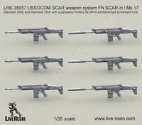 Live Resin 1/35 LRE-35057 USSOCOM SCAR Weapon System FN SCAR-L/Mk.17 (Set 2)