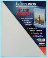 """15 Ultra Pro 8""""x10"""" TOPLOADERS NEW for Sleeves Memorabilia Photos Collectibles"""