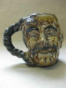 Guernsey Pottery Face Mask / Character Mug Tankard ~ Fisherman ~ Treacle Glaze