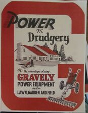 Gravely 1950 model L Two-Wheel Lawn Garden Tractor Color Sales Manual 16pg 5 h.p