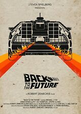 "Back to the Future 1 2 3 Movie Fabric poster 32"" x 24"" Decor 10"