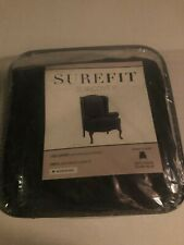 NEW Sure Fit - Stretch Wing Chair Storm Blue One Piece Stretch Morgan Slip cover