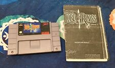 """Lord of the Rings *Authentic* SNES *Cleaned And Tested"""" + Instructions (See Desc"""