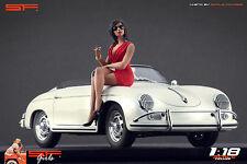 1/18 Sitting Girl red dress VERY RARE !! figure for1:18 CMC Autoart Ferrari