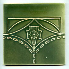 "Relief moulded 6""sq Art Deco tile by H&R Johnson, 1934"