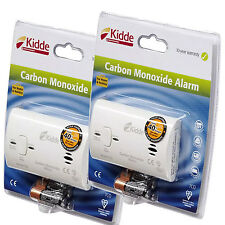 2 x Kidde Carbon Monoxide Alarms Detector 10 Year Warranty