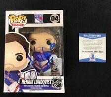 Henrik Lundqvist Signed New York Rangers NHL Funko Pop Figure Beckett COA D50903