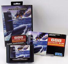 Sega Mega Drive- 688 Attack Sub Simulator Series + Anleitung + OVP