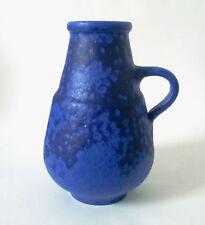 70s Heyne Keramik Vase ceramic west german blue glaze HOY céramique annees 70