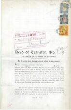 "STH AFRICA -1913 ""DEED OF TRANSFER"" w Interprovincial use KEVII Revenues(ME977)*"
