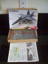 OLDER TESTORS McDONNELL DOUGLAS F/A-18 HORNET JET PLANE MODEL KIT