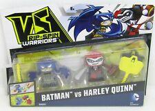 VS Rip-Spin Warriors Series 1 Batman vs. Harley Quinn Set Mattel NEW