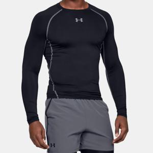 Under Armour Men's UA HeatGear Armour Long Sleeve Compression Shirt. Black